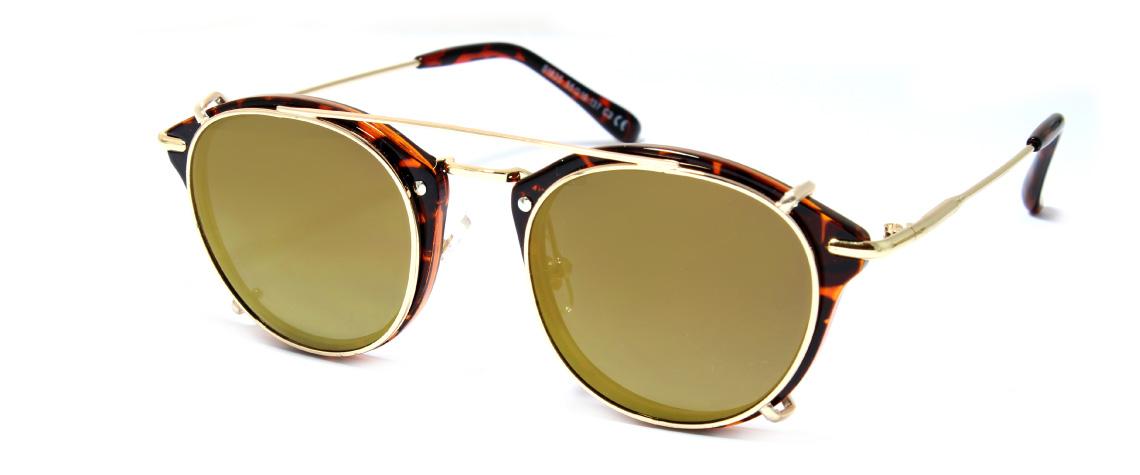 SALEAS Clip-Brown-Gold